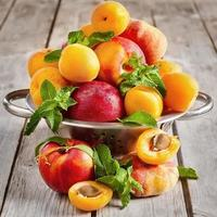Apricots, nectarines and saturn peaches