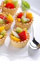 pastry cakes with fruit