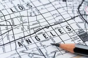 mapa de los angeles foto