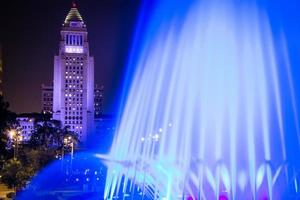 Los Angeles City Hall as seen from the Grand Park