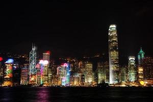puerto victoria en la noche foto