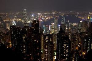 hong kong de noche foto