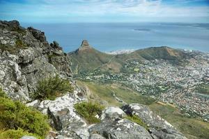 View of Lions Head from table mountain