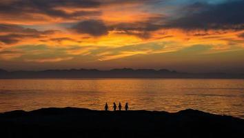 Sunrise With Penguins