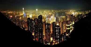 Hong Kong city night time photo