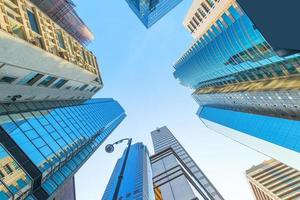 moderno centro de negocios en hong kong foto