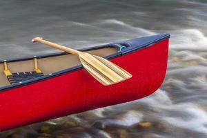 canoe bow with paddle