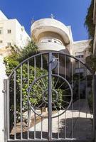 Facade of one of the Bauhaus buildings. Tel Aviv. Israel.