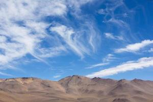 Atacama Mountain with blue sky in Eduardo Avaroa Park photo