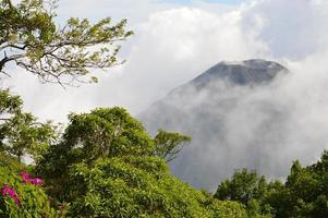 The peak of the active Izalco volcano in El Salvador photo