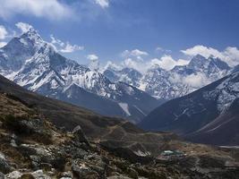 telhado do mundo - vista para a montanha do Himalaia