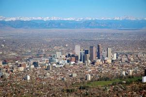 Denver from the air photo
