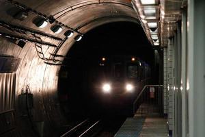 tren de la línea azul de Chicago foto
