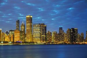 Chicago downtown cityscape photo