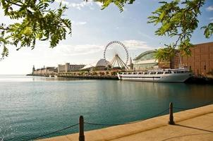 Landscape view of a waterfront in Chicago