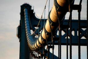 Suspension bridge cabling photo