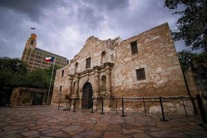 The Alamo on a cloudy day