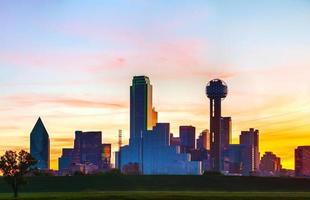Panoramic overview of downtown Dallas photo