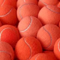 pelota de tenis como fondo deportivo foto