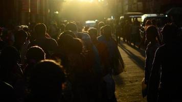 multidão em kolkata
