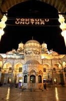Mahya at Yeni (New) Mosque photo