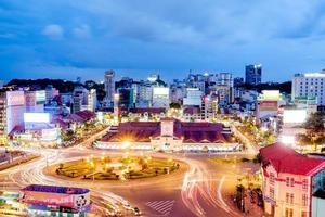 ho chi minh, vietnam - 25 de noviembre de 2015 puesta de sol