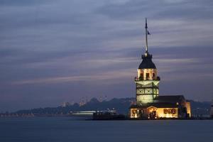 Torre de Maiden. Estanbul. pavo