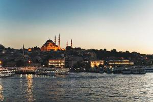 Istanbul sunset Golden Horn