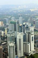Aerial view of Kuala Lumpur from KLCC photo
