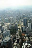 Aerial view of Kuala Lumpur from KLCC