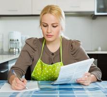 Woman with documents photo