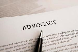 document with the title of advocacy photo