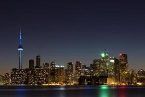 Toronto Skyline at Dusk with copyspace photo