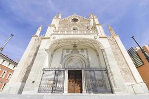 Church of San Jeronimo, Madrid. Famous landmark in Spain.