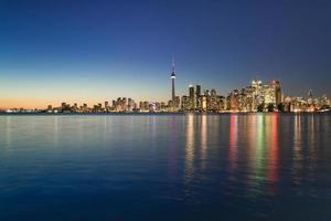 Night scene of downtown Toronto photo