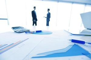 Businessmen and documents