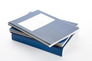 libro de texto de la escuela azul