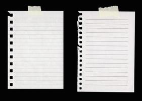 Lined Paper with Masking Tape