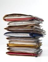Stack of folders photo
