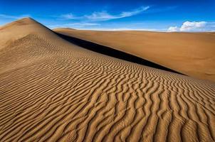 The Namib sand-sea consisting of many sand dunes.
