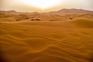 Dunas de arena en Merzouga, Marruecos