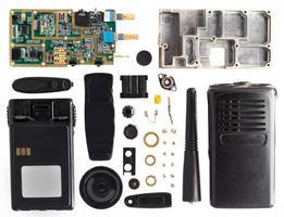 The disassembled portable radio set photo