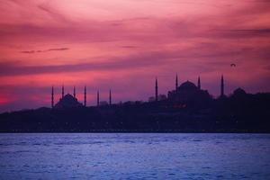 Blue mosque and Hagia Sofia photo