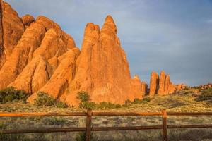 Rows of Sandstone Fins photo