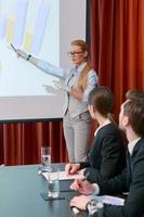 een presentatie maken tijdens vergadering