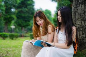 Asian college students photo