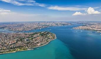 Aerial view of Istanbul photo