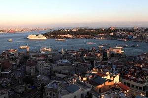 Landscape of Golden Horn from Galata tower photo