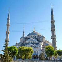 de blauwe moskee (sultanahmet camii), istanbul, turkije