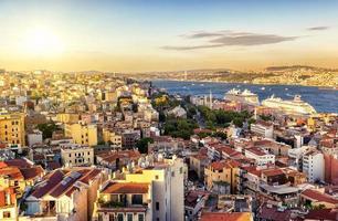 Istambul ao pôr do sol, Turquia